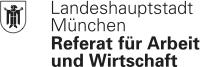 Landeshauptstadt München Referat für Arbeit und Wirtschaft Logo